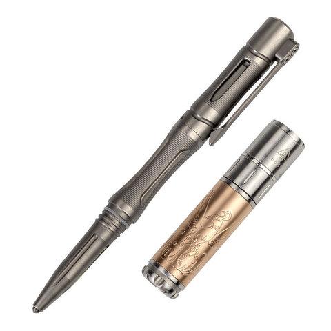 Набор: Fenix ручка T5Ti + фонарь светодиодный F15, 85 лм, ААА, серый