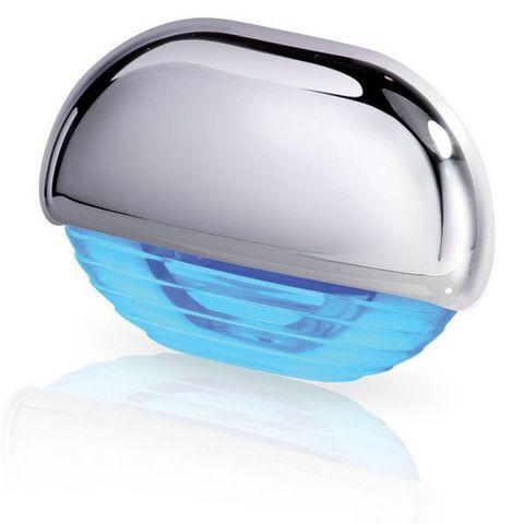 Светильник светодиодный для подсветки палуб и трапов, 45 х 31 мм, синий свет, хромированный корпус