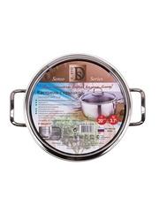 Кастрюля для индукционной плиты 3,7 литра 20 см со стеклянной крышкой DARIIS SENSO из нержавеющей стали Турция HUR-S-13042