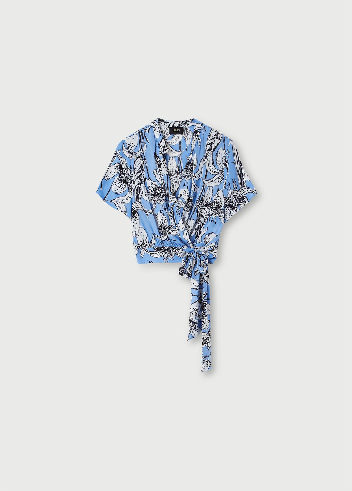 Liu Jo Костюм в крупный цветочный принт из вискозы