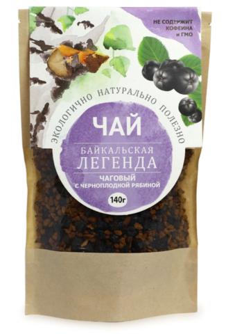 Чаговый чай с черноплодной рябиной, гранулы 140 гр