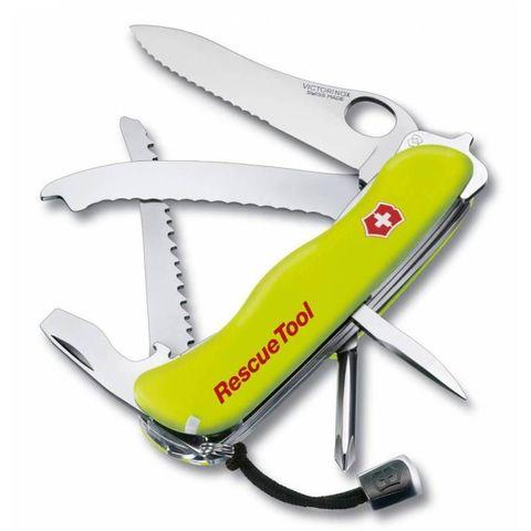 Нож перочинный Victorinox RescueTool One Hand (0.8623.MWN) 111мм 12функций салатовый