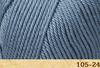 Пряжа Fibranatura Luxor 105-24 (Сизо-серый)