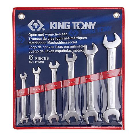 KINGTONY (1106MR) Набор рожковых ключей, 8-23 мм, 6 предметов