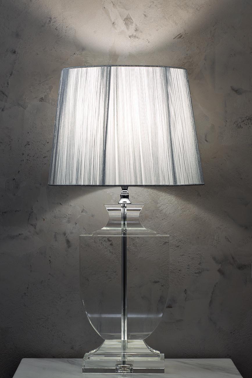 X79705 Лампа настольная (серебряная) В67Д35