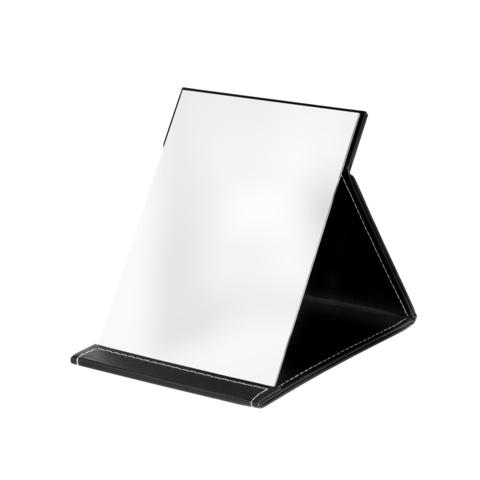 Зеркало настольное складное LUCAS, экокожа, черное 20% ВОРОНЕЖ