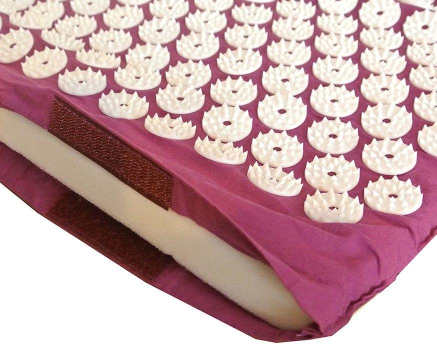 Массажный коврик (аппликатор Кузнецова) + подушка (фиолетовый) Фото №3