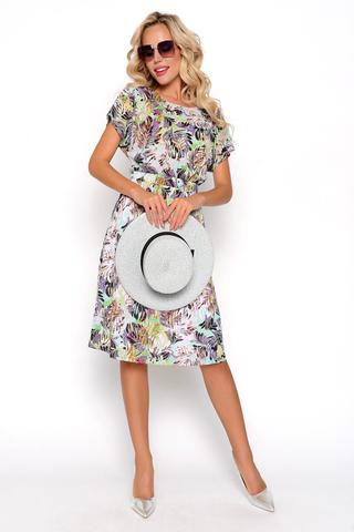 <p>Что может быть приятнее и притягательнее летнего платья? Оно добавляет нежности, женственности и очарования. Романтичный образ усиливае принт&nbsp; - опьяняющий и упоительный. Талия на широкой резинке, юбка на подкладе. <span>Длины: ( 44-46р- 100см, 48-50 р-102см).</span></p>