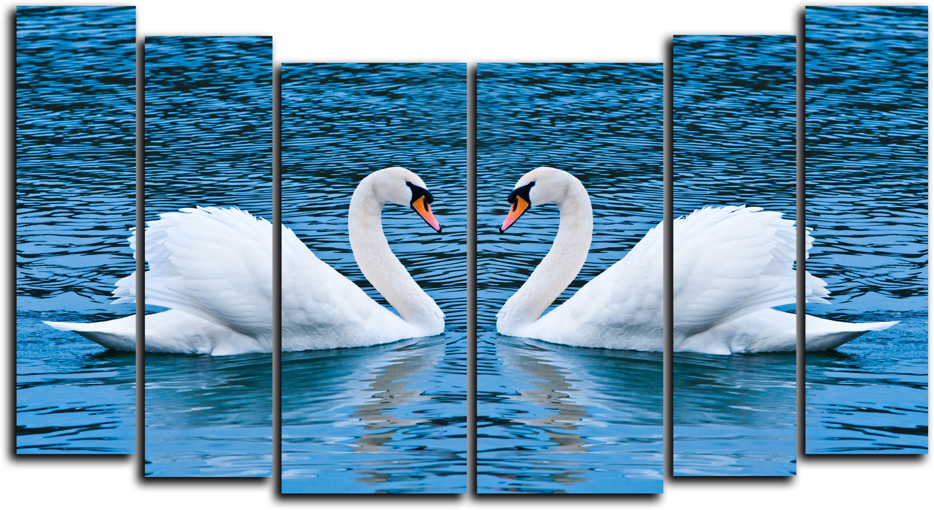 """Природа Модульная картина """"Белое озеро"""" М778.png"""
