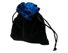 Мешочек Blackfire Velvet Dice Bag 10x12cm with Satin Lining (синяя подкладка)