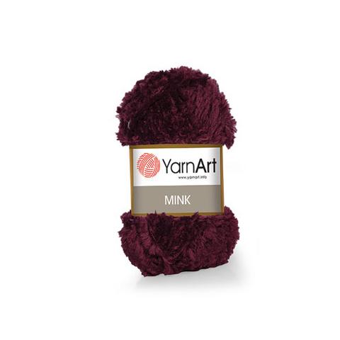 Пряжа YarnArt Mink - (339-бордовый)