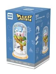 Конструктор в колбе Wisehawk Замок в небе 943 детали NO. 2648 Castle in the Sky Keep Joy Series