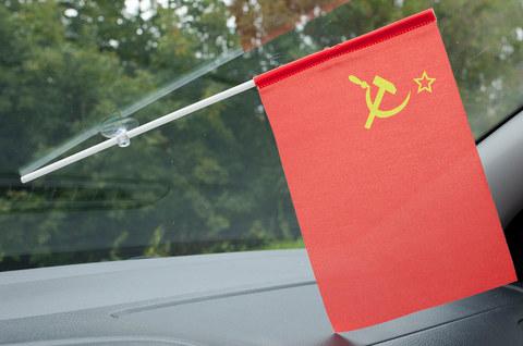 Купить флаг СССР на присоске в машину - Магазин тельняшек.ру