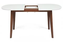Стол обеденный раскладной Боско (BOSCO) (Боско) — Белый + Коричневый