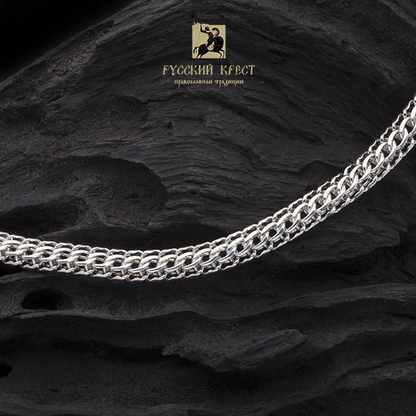 Цепь плетение фараон серебро