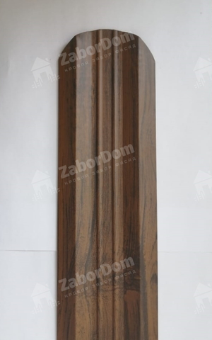 М-образный штакетник металлический 95 мм Каштан двухсторонний 0.5 мм