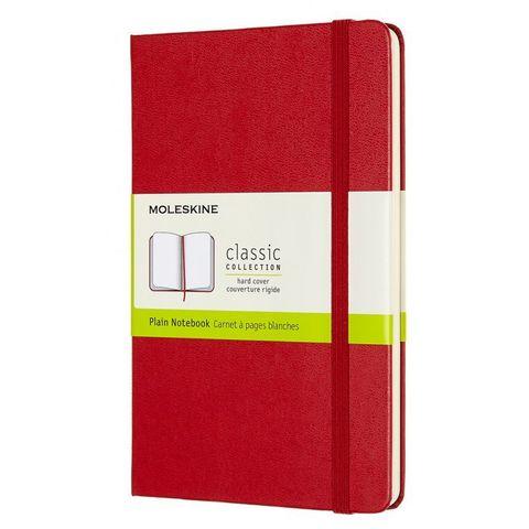 Блокнот Moleskine CLASSIC QP052F2 Medium 115x180мм 240стр. нелинованный твердая обложка красный