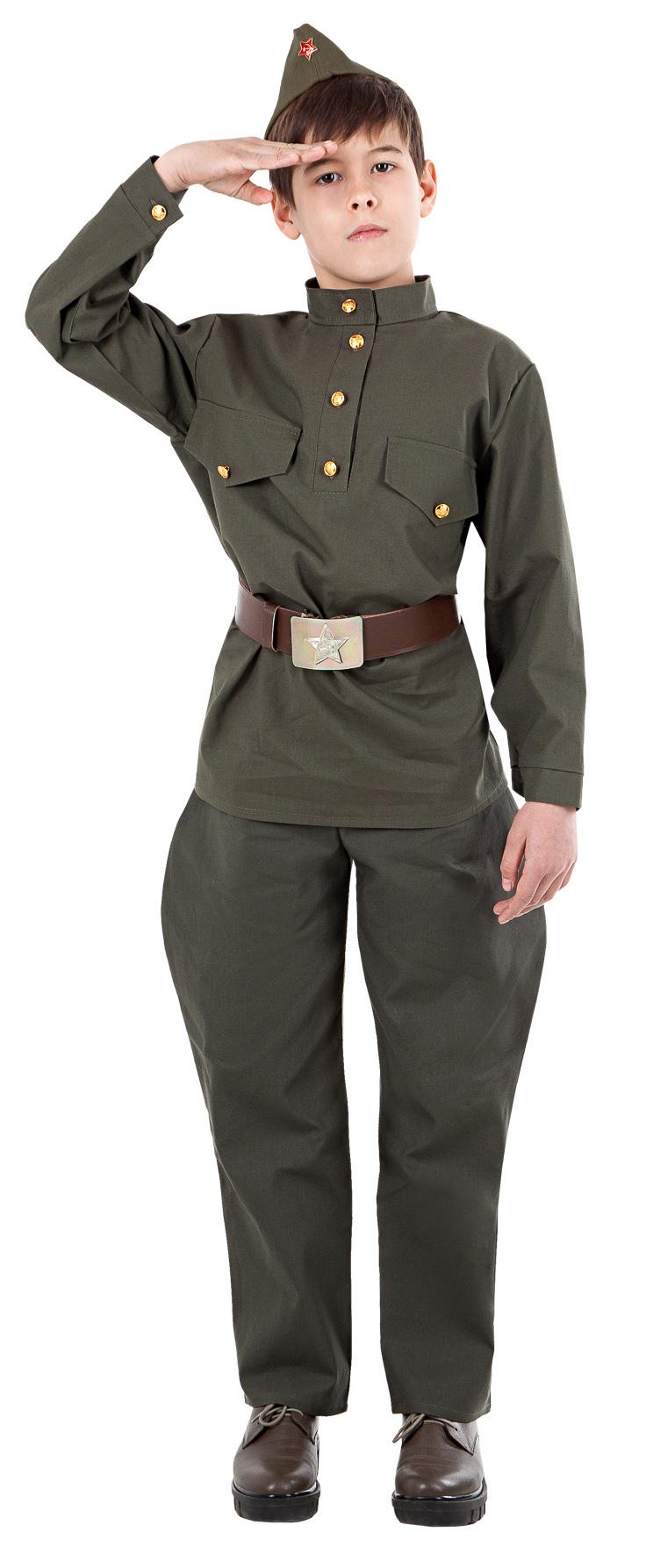 Военная форма Солдат в галифе подростковый (бязь)
