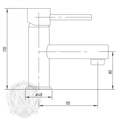 Смеситель для раковины  Migliore Fortis ML.FRT-5113 схема