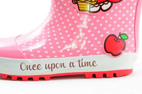 Резиновые сапоги для девочек утепленные Хелло Китти (Hello Kitty), цвет розовый. Изображение 8 из 11.