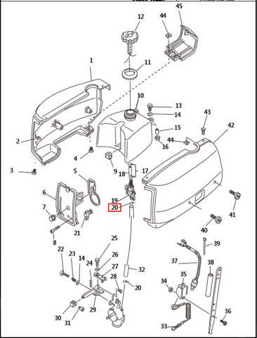 Хомут  для лодочного мотора T2,5 SEA-PRO (1-20)