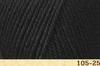 Пряжа Fibranatura Luxor 105-25 (Черный)