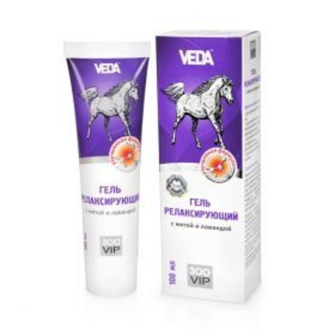 ZOOVIP relaxing gel with mint and lavender for horses 100 ml