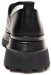 Черные кожаные туфли на широком каблуке женские Marani magli M-237-06-18 Black.