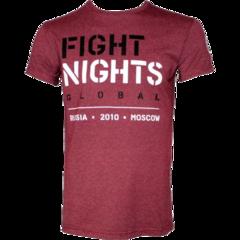 Футболка Fight Nights Global бордовая