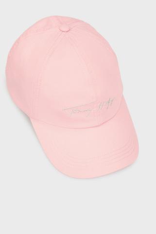 Женская розовая кепка SIGNATURE CAP Tommy Hilfiger