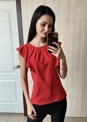 Ася. Сучасна ділова офісна блуза. Червоний