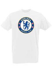 Футболка с принтом FC Chelsea (ФК Челси) белая 0002