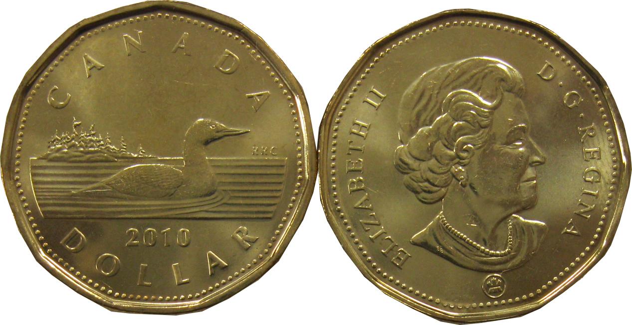 """1 доллар """"Животные. Утка"""" 2010 год UNC"""
