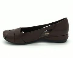 Туфли коричневые открытые на платформе