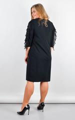 Лілія. Ошатне плаття плюс сайз. Чорний.
