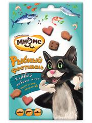 Лакомство для кошек Мнямс Рыбный фестиваль (лосось, креветки, форель)