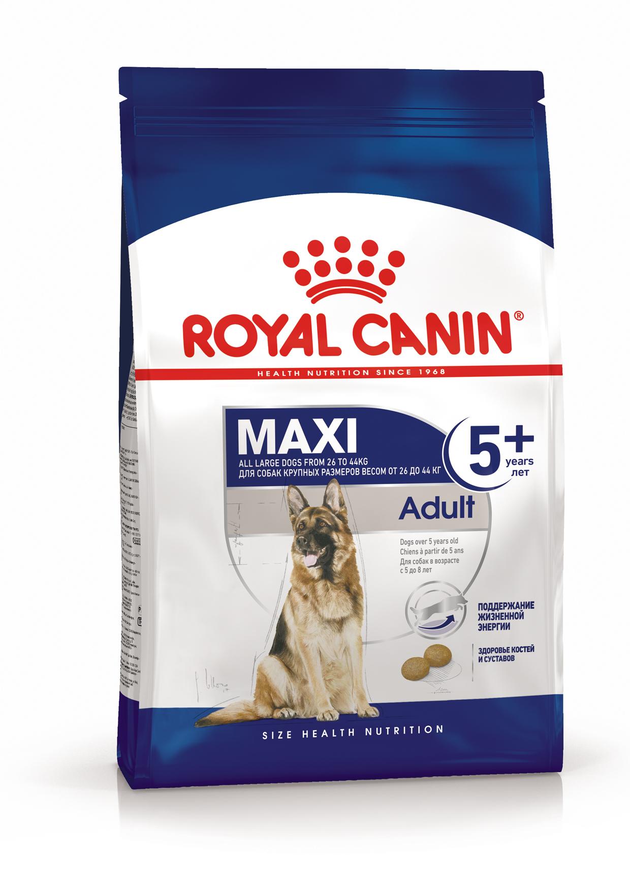 Каталог Корм для собак крупных пород от 5 лет, Royal Canin Maxi Adult 5+ 3182550402293_1.png