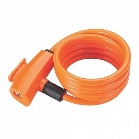 Замок велосипедный BBB QuickSafe 8mm x 1500mm ключевой оранжевый