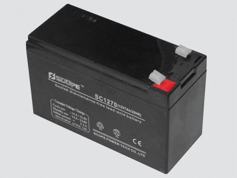 Аккумулятор свинцово-кислотный 12V, 7Ah SC-1270 151*65*95мм