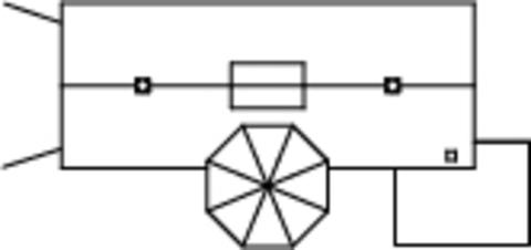 Локомотивное депо с водонапорной башней, (H0)