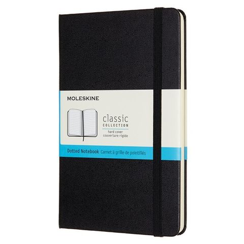 Блокнот Moleskine CLASSIC QP053 Medium 115x180мм 240стр. пунктир твердая обложка черный