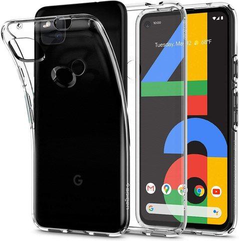 Чехол Spigen Liquid Crystal для Google Pixel 4A (Прозрачный)