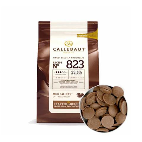 Шоколад молочный Callebaut 823 (33,6%), 100г.