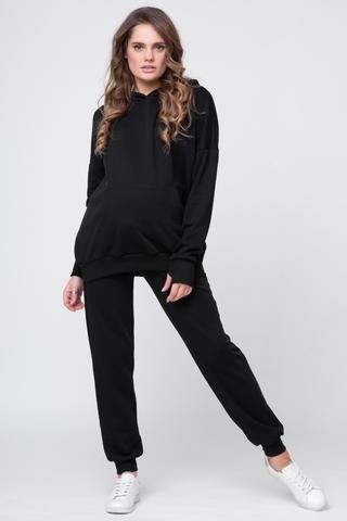 Спортивный костюм для беременных и кормящих 12275 черный