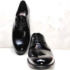 Классические мужские туфли на шнуровке Ikoc 2118-6 Patent Black Leather.