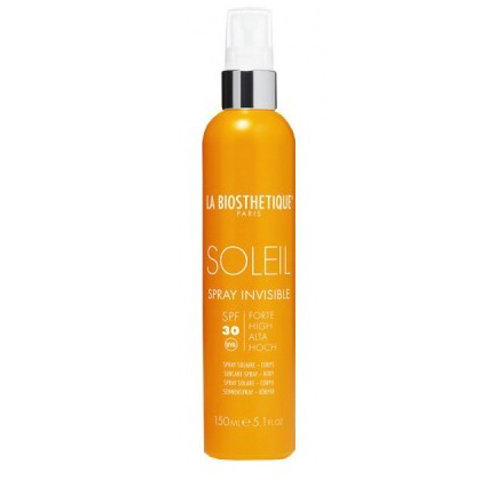 La Biosthetique Methode Soleil для лица и тела: Anti-age водостойкий солнцезащитный спрей для тела SPF30 (Spray Invisible Corps SPF 30), 150мл
