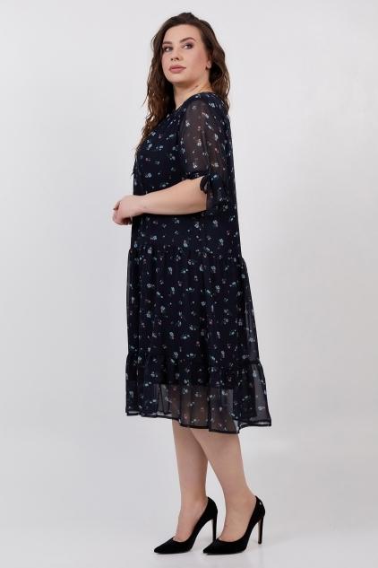 Платье Мона (темно-синий)