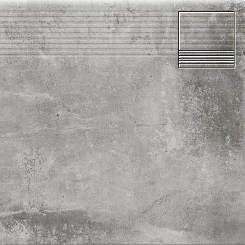Cerrad Piatto Gris - Ступень простая структурная 30х30