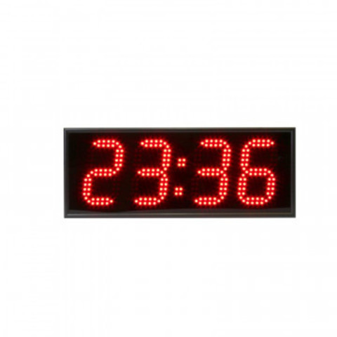 Часы электронные 413-R, цвет свечения красный 0,5Кд,  460x180x75мм