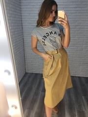 бежевая длинная юбка купить